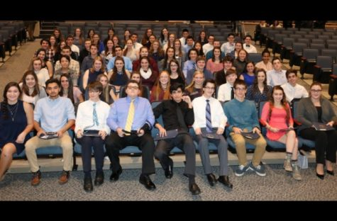 The National Honor Society Inducts Its Newest Members
