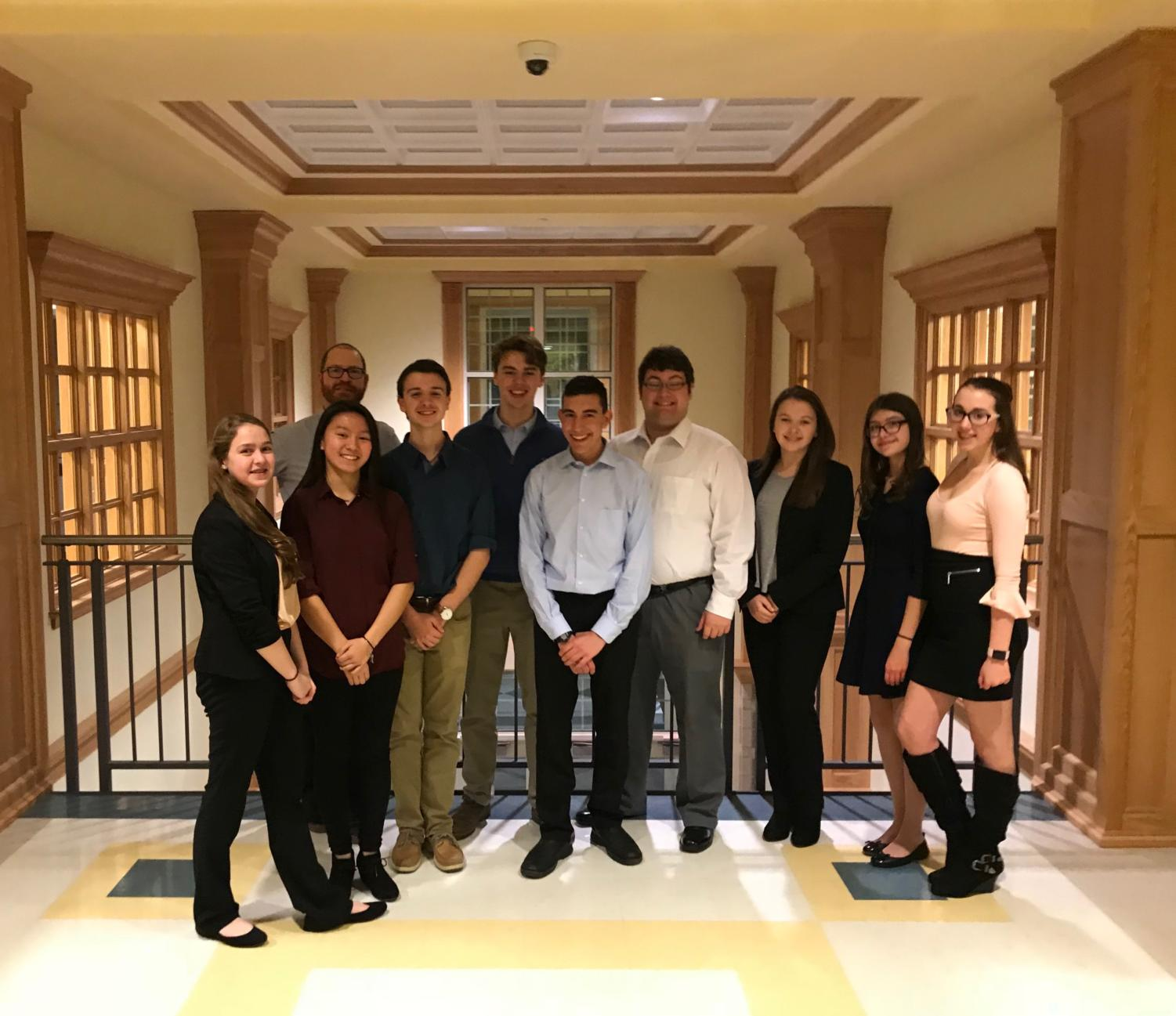 From left to right: Jillian Cabral, Benjamin Chase, Jillian Platt, Jacob Biello, Maxwell Cabana, Ryan Silverman, Jaden Cranshaw, Rebecca Donovan, Cassandra Pay, Maya Newhook, Abigail Montag (not pictured) and Santiago Abril (not pictured).