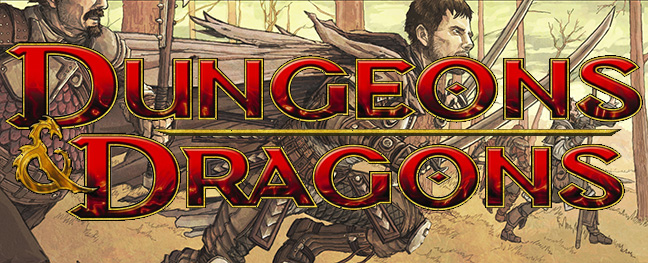 Dungeons+and+Dragons+Banner.+Picture+includes+a+Fighter+behind+the+Dungeons+and+Dragons+logo.