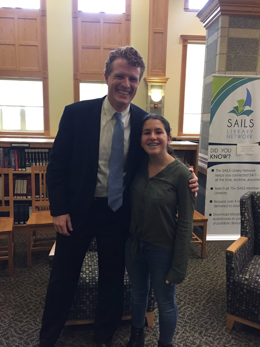 Joe Kennedy III recently spoke at Somerset Berkley Regional High School.