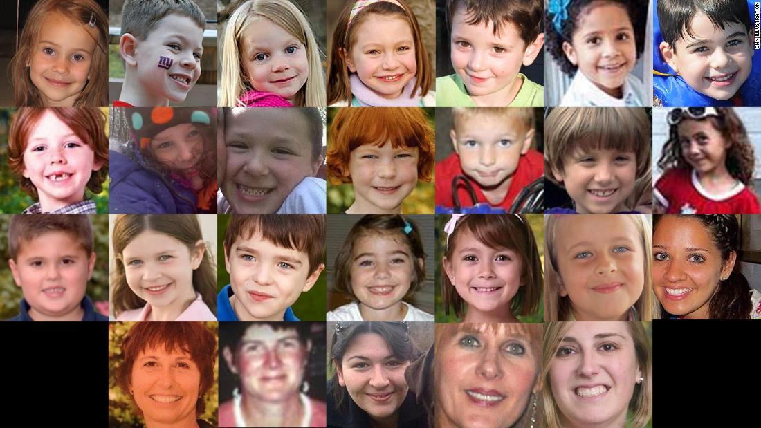 The 26 victims of the Sandy Hook shooting.