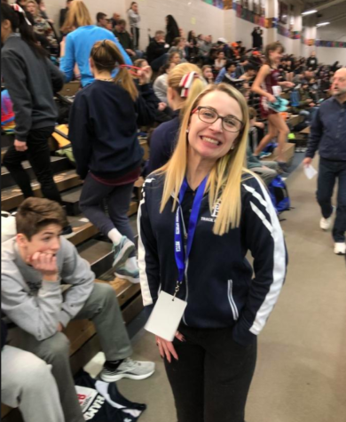 Ms. Cote is also the head coach for Winter and Spring Track.