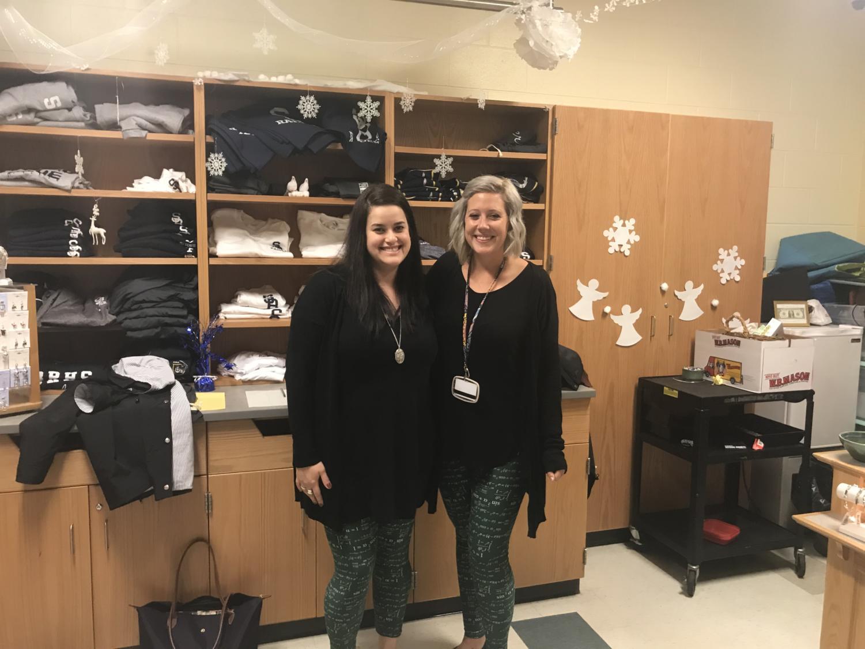 Ms. Mann (right) and Mrs. Proulx (left) run the Somerset Berkley Math Team.